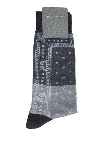 Alto Socks Alto Socks  Etnik Desenli Erkek Çorap 101643906 Gri